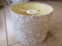 two tone cream lampshade