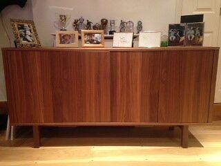 one ikea stockholm sideboard walnut veneer perfect condition barely used great elegant storage. Black Bedroom Furniture Sets. Home Design Ideas