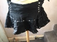 Gothic Skirt Black size M lace