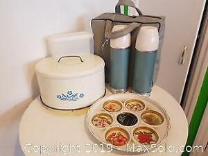 Kitchenware - Cake Tin, Cupcake try and Thermos w/Carrycase+