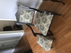 Antique Rocking Chair with Foot Stool.