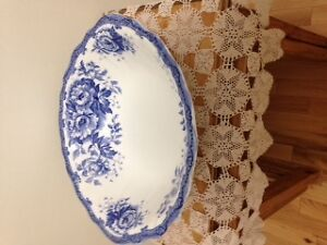 Antique Bowl, Pitcher, and Chamber Pot Lid