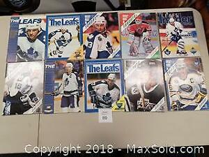 Lot of 10 1980s to 1990s Toronto Maple Leafs NHL Hockey Programs - C