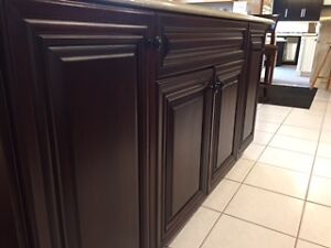 Beautiful Cherry Kitchen Island with Zodiaq Counter St. John's Newfoundland image 3