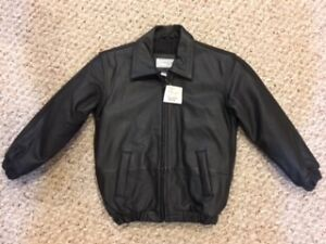 Genuine Leather Childrens Coat Never Worn