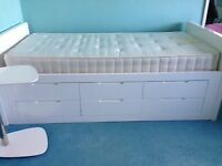 White gloss DWELL Buddy bed with 6 drawers (other matching furniture available)