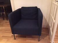 Blue/Navy Ekero Ikea armchair