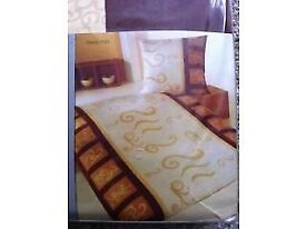 NEW German High Quality: 2 x Bed linen Set, very fine fabric, beautiful Colours and Design 135x200cm