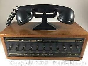Vintage Wooden Reception Telephone
