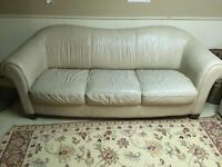 Leather Natuzzi Couch and Love Seat