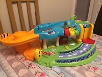 Vtech toot toot garage with one car. Batteries included.