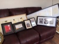 ikea prints and box framed prints, including decorative mirror