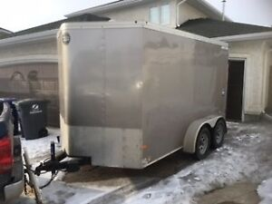 2016 Cargo Mate 6x12 + 2 foot V-nose trailer