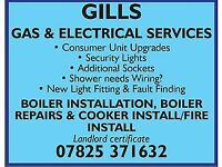 Gas safe(corgi) engineer and electrician fully qualified