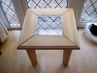 PINE & GLASS SMALL TABLE