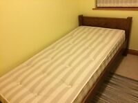 3ft Single Bed. Hand built in solid wood. Complete with a quality mattress.