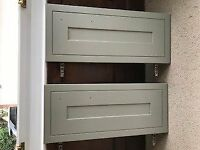 Free - 2 brand new biege coloured kitchen cabinet doors