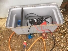 Battery box with cables