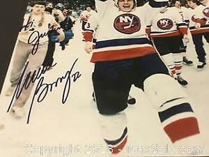 Authentic Mike Bossy Autographed Photo 8 x10