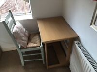 Desk and chair for sla