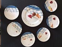 French porcelain Cheese plates & serving plate