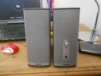 pair of bose pc power speakers