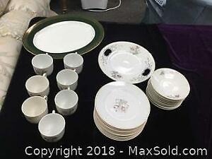 Vintage Bone China Dessert Set