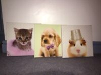 Next Animal wall canvases