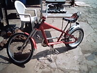 Red Chopper Bicycle w/ Fenders and Raised Seat
