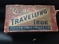 Clem Antique Travel Iron in original Box