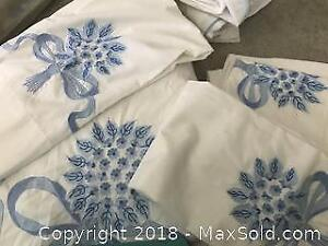 Hand Embroidered Pratesi Duvet Cover full Pickup B