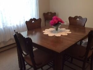 Antique Dining Set with Hutch