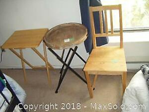 Chair And Tables B
