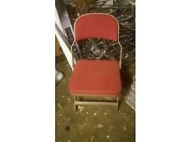Sadler Red Folding Theatre Chairs