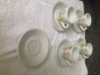 Espresso cup and saucers - Cherubs