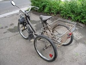 Vintage SOLEX Motorized 3 Wheeler Bike with Carrier