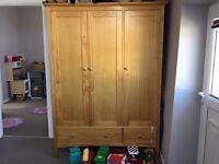 Marks and Spencers - 3 door wardrobe - Oak