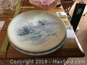 Decorative Hand Painted Plate And Bowl A