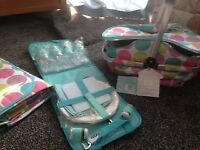 matching picnic basket, cutlery set and ground blanket