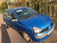 Reuault Clio 1.2 Expression 5 dr hatchback. 2 owners from new. MOT till 29 July