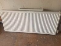Central Heating radiator with valve 1400 x 600 x 100