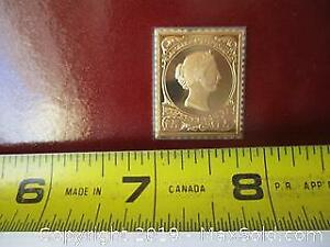Canadian Silver Engravers LTD. Special 15 Cent Victoria, Dominion, Sterling Silver, Gold Clad Coin In The Form Of The 15