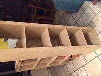 Expedit Ikea Shelving - tall 5 shelf maple