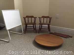 Child Sized Maple Table And Chair Set