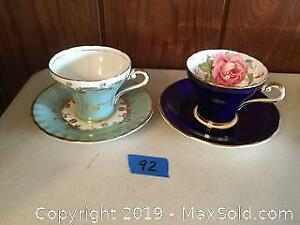 Aynsley Tea Cups And Saucers