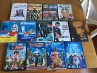 Bundle of DVDs, ranging from PG to 18