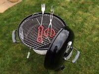 Weber Compact 47cm Kettle Charcoal BBQ (Black) plus tools