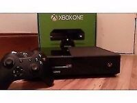 BLACK FAIRLY USED X BOX 500GB FOR SALE WITH FIFA 15