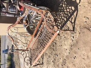 Garden Wrought Iron Bench