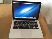 APPLE PRO MAC BOOK 13INCH SCREEN, SILVER CASING EXCELLENT CONDITION!